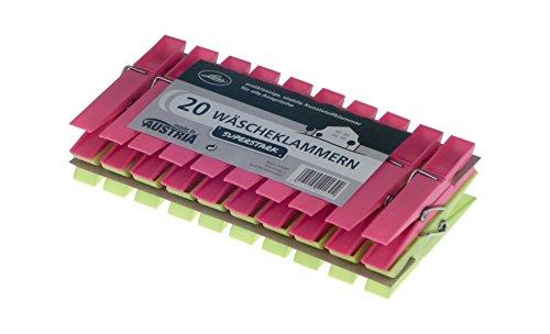 Keim 401326 Kunststoffwäscheklammern superstark 20 Stück Plastik 16 x 8 x 3.5 cm, Bunt