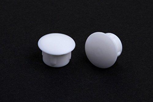 10 Abdeckkappen, weiss, 10 mm