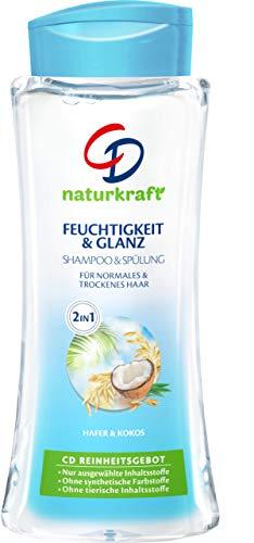 CD Naturkraft 2In1 Feuchtigkeit & Glanz Shampoo mit Hafer & Kokos für normales & trockenes Haar/Vegan, 6er Pack (6 x 250 ml)