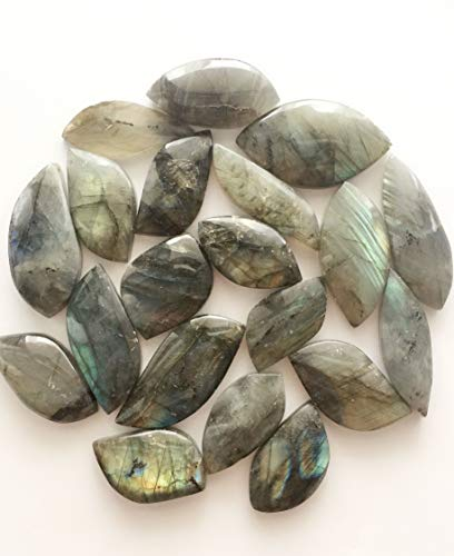 Jic Gem 20 Pcs Gemstone Labradorite Freeform Cab Pendant Jewelry From Madagascar