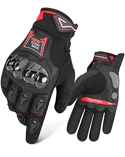 Guantes de moto homologados 1KP Touch Screen guantes deportivos de verano guantes Moto guantes MTB protección resistente guantes para hombre mujer