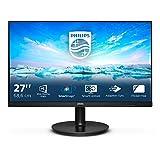 """Philips 272V8A Monitor da 68 cm (27""""), con porta HDMI, DisplayPort, tecnologia FreeSync, tempo di risposta di 4 ms, da 1920 x 1080, 75 Hz, di colore nero (versione in lingua italiana non garantita)"""