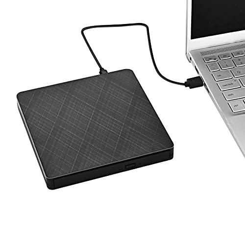 TTLIFE Unità DVD Blu Ray Esterna,CD DVD Portatile 3D Slim,Masterizzatore Ottico,USB 3.0 Type-C,con Lettore di Schede SD TF e Chiavetta USB,Compatibile con MacOS Windows XP 7 8 10,per MacBook,Laptop,PC