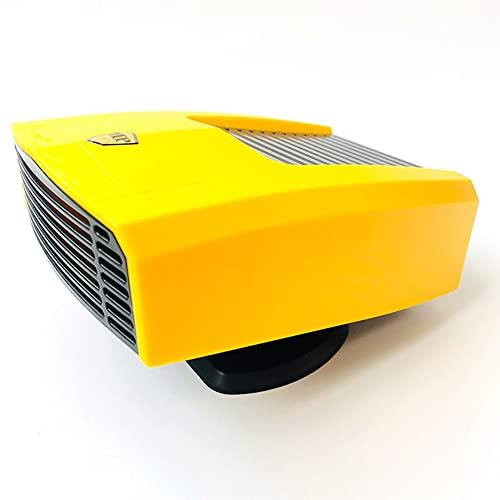 BGZSG - Sbrinatore portatile per auto da 12 V/150 W, riscaldatore per auto 2 in 1, con base rotante a 360 gradi, ottimo regalo per inverno, oro giallo, 24 V