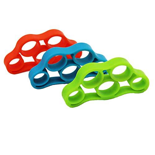 Losuya 3 Stück Finger-Bahre Trainer für Krafttrainer und Handgriffverstärker Handwiderstandsbänder