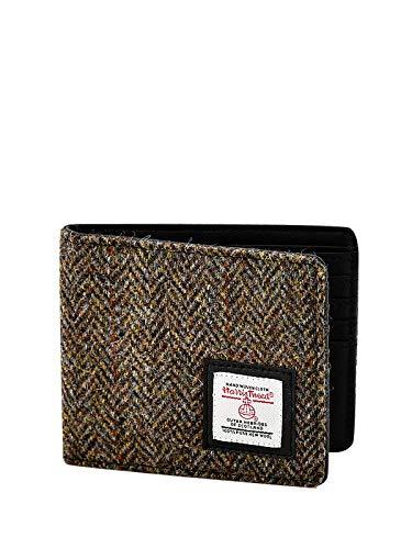 Harris Tweed Geldbörse für Herren, RFID-blockierend, mit Geschenkbox, Braun - braun - Größe: One...