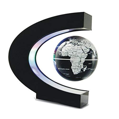 bansd Globo de levitación magnética Mapa del Mundo Flotante Lámpara de Bola Decoración de iluminación Fresca Negro UE