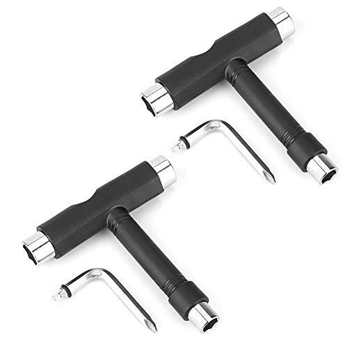 Alomejor 2 Sätze Skateboard Schraubenschlüssel Stahl T Form Skateboard Rollschuh Werkzeug Multifunktions Repair Tool