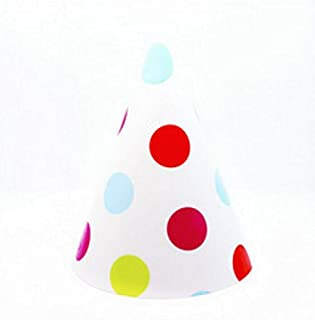 Perfect Party Decoration Holiday Accessories Birthday Party Decoration Variety Color Dots Pattern Cone Hat_Colorful