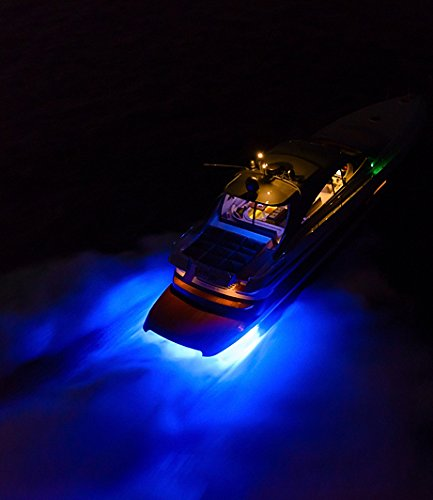 GFJMC Waterproof Ip68 Led Drain Plug Light 9w Underwater Boat Lights Marine Yacht Led Drain Plug Light for Fishing Swimming Pool Light Divinng Pontoon Marine Blue Color (Blue)
