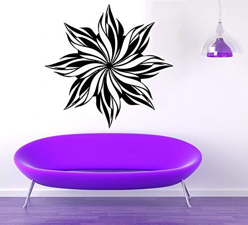 Geiqianjiumai Wandaufkleber wohnkultur Wohnzimmer abnehmbare vinylapplikation Mandala Blume wandkunst wandbild 42X44 cm