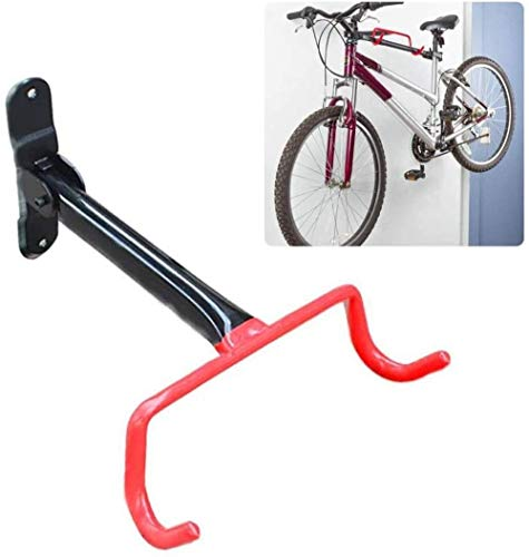 ZCX Bicycle Holder Wall Mount - Folding Bicycle Mount Wall Mount Bike Hanger Flip Up Garage Bicycle Bike Rack Storage System For Garage Shed - Cycling Rack - Space Saver Holder, Hook For Bicycles - Ha