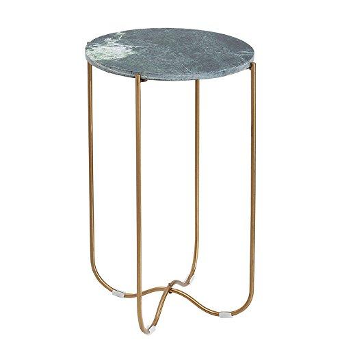 Invicta Interior Exklusiver Beistelltisch Noble I 35cm grün echter Marmor hochwertig verarbeitet Tisch Marmorplatte Wohnzimmertisch