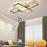 Lámpara LED de techo Salón Lamparas Moderna Diseño Cuadrado Plafones Regulable Con mando a distancia Luz para Dormitorio Habitacion Comedor Baño Cocina Decor Candelabro Interior Iluminación