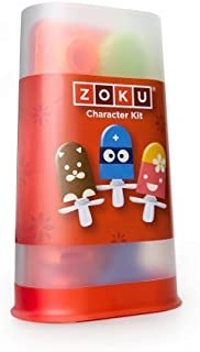 Zoku Character Kit, Interactive Popsicle Decorating Set with Stencils, Storage Case and More