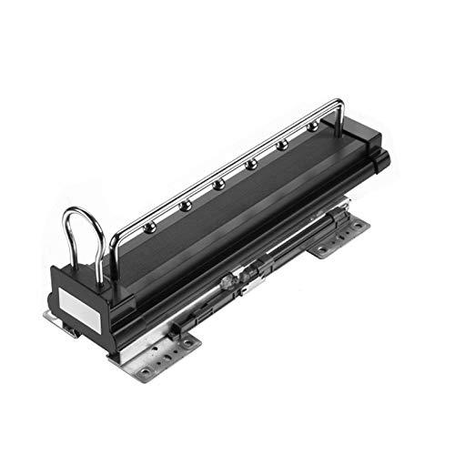 WYDYDM Push-Pull Gabinete Perchero Marco de Aluminio Armario Organizador con toboganes de rieles de Bolas (Color : Negro, Size : 6 Beads)