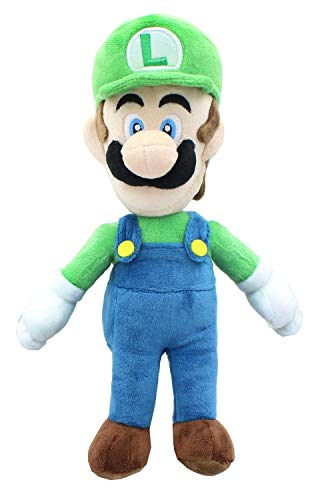 Little Buddy Super Mario All Star Collection 1415 Luigi Stuffed Plush, 10',Multi-Colored