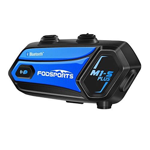 FODSPORTS バイク インカム M1-S Plus 最大6人同時通話 最大使用20時間 FMラジオ 音楽共有 強い互換性 Bluetooth4.2 ヘッドセット バイク いんかむ 6riders マルチデバイス接続 ユニバーサル インカム バイク 日本語案内&説明書 インターコム 高音質 トランシーバー バイク用インカム Siri対応 バイク用 無線機 ワイヤレス Type-Cジャック 2種類マイク同梱 技適認証済み(1セット)