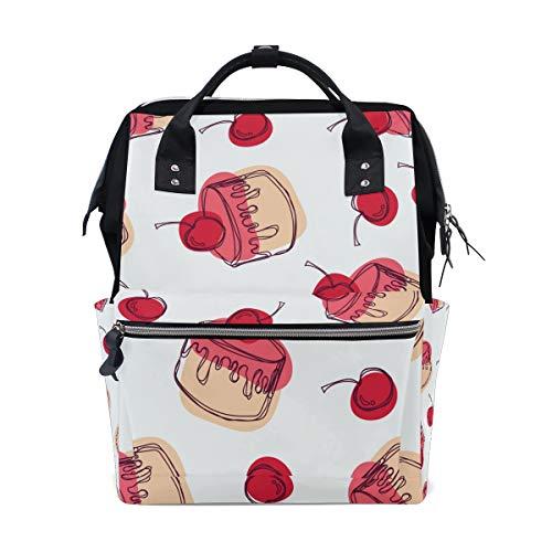 Bolsa de pañales con diseño de tarta de cerezo