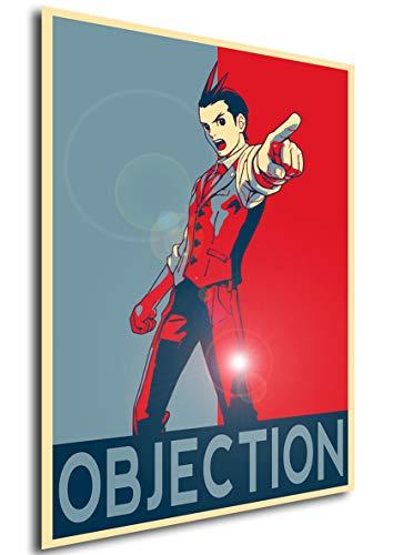 Instabuy Poster - Propaganda - Ace Attorney - Apollo Justice Objection Variant Manifesto 70x50