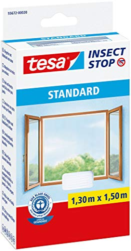 Tesa Insect Stop Moustiquaire Standard pour fenêtre, 1.30m x