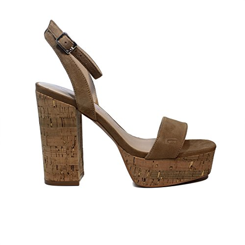 Fornarina Sandale Frau mit Dunkelbeige Farbe High Heels Modell untergräbt Artikel PE18MN2816S087 Neue Frühlings- und Sommerkollektion 2018 (38)