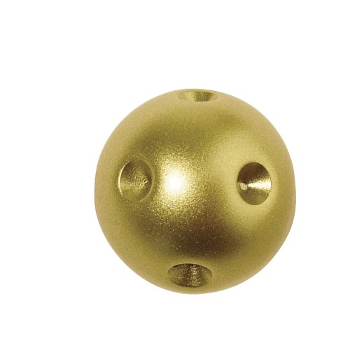 Rayher - Schmuckkugel Vivienne, 22 mm, für 9 Steine, Blister 1 Stück, brill.gold