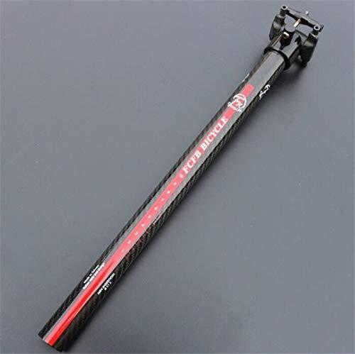 FCFB MTB Road Bike Seatpost 0mm Offset 3K Carbon Fiber Seat Tube 27.2x350mm Red