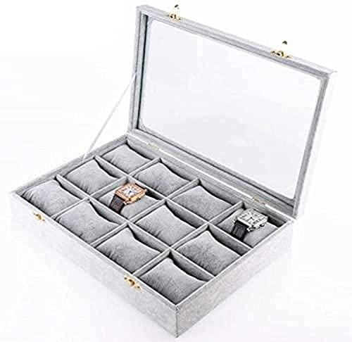 ZKLL Caja De Reloj De Madera para Mujer Jewelry Case Organizer Mens Watch Organizer Caja De Organizador con Cerradura De Llave Decoración