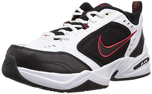 Nike Men's Air Monarch IV Cross Trainer, White/Black, 7.0 Regular US