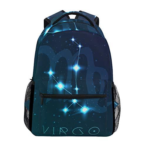 Jeansame Rucksack, Schultasche, Laptop, Reisetasche für Kinder, Jungen, Mädchen, Frauen, Männer, Jungfrau, Astrologie, Sterne, Sternbild