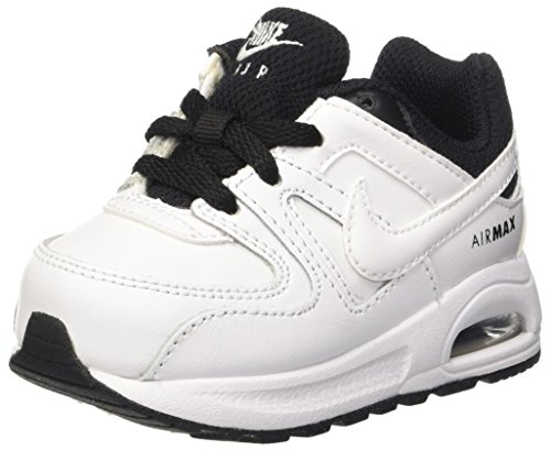 Nike Unisex-Kinder Air Max Command Flex Ltr Td Sneaker, Blanco White White Black, 22 EU