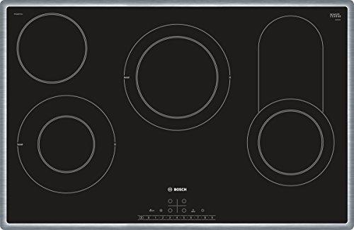 Bosch PKC845FP1D Serie 6 Elektrokochfeld (autark) / 80 cm / Schwarz / Umlaufender Rahmen / DirectSelect / 17 Leistungsstufen / PowerBoost / Energieverbrauchs-Anzeige / Kindersicherung