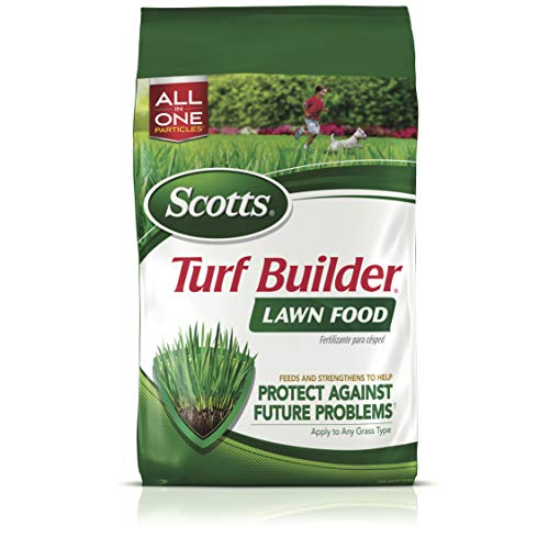 Scotts Turf Builder Lawn Food, 12.5 lb. - Lawn Fertilizer Feeds and Strengthens Grass to Protect Against Future Problems - Build Deep Roots - Apply to Any Grass Type - Covers 5,000 sq. ft.