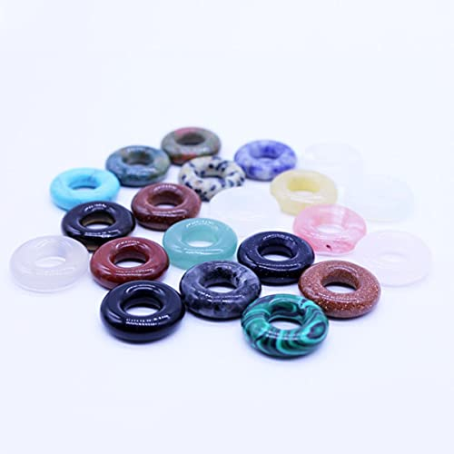 Perle di pietra di colore misto del cerchio di cristallo di pietra naturale all'ingrosso per la fabbricazione dei monili della collana di modo delle donne-Cina, 15mm