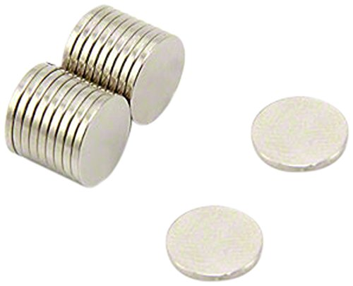 first4magnets f307 - N35-20 10 mm diámetro x 1 mm de grosor...