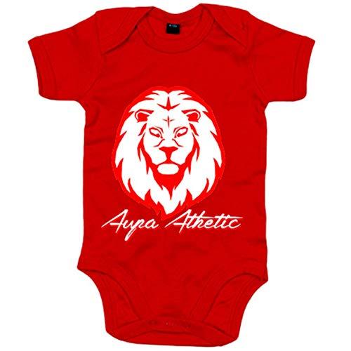 Body bebé ilustración silueta del león del Athletic - Rojo, Talla única 12 meses
