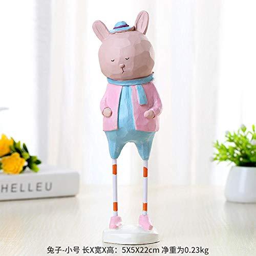 Fslt schattige pop met lange benen, cartoon, voeten van ijzer, hars, decoratie voor dieren, creatief bureau, hotel, decoratie, verjaardagscadeau