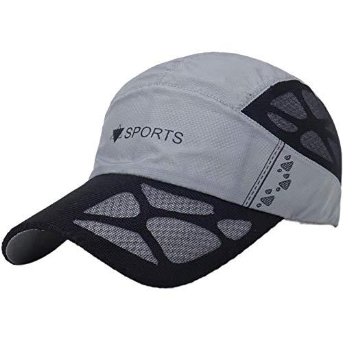 Herren Kappe Cap Mütze Männer Frauen Schirmmütze Anti-Uv-Mesh Hüte Outdoor Laufen Golf Angeln Wandern Strand Sportswear Grau