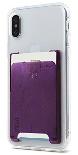 Ringke Slot Card Holder [Amethyst Purple] Minimalista Slim Palo de la Tarjeta de Crédito sobre la Manga de la Tarjeta