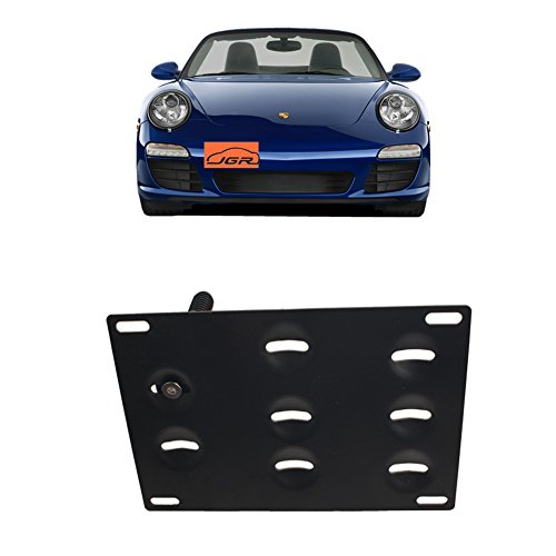 JGR Racing Car No drill Tow Eye Front Bumper Tow Hole Hook License Plate Mount Bracket Holder Adapter Relocation Kit For Porsche 911 924 Boxster, etc