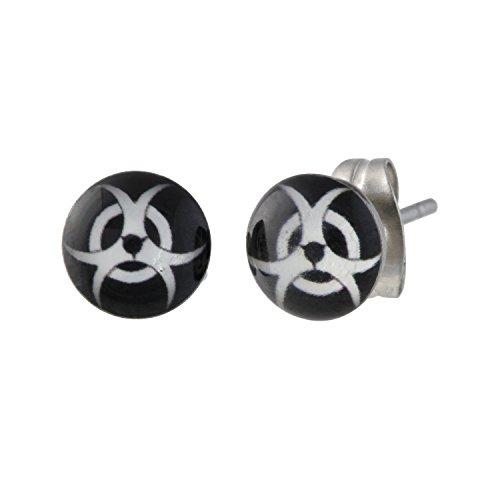 boucle d'oreille biohazard