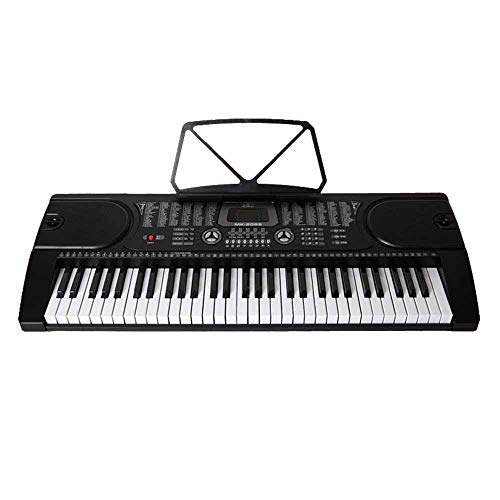 DHOUTDOORS 61 Tasten Keyboard E-Piano Lern Klavier 255 Sounds Rhythmen Leuchttasten Kinder Keyboard Digital Piano Mini Keyboard