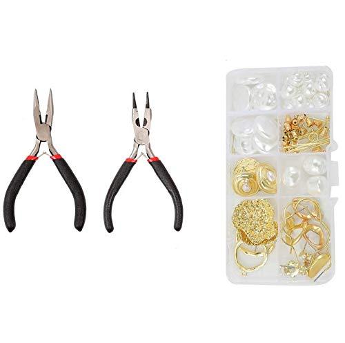 Queta Caja de DIY 20 Pares de aretes Pendiente hacer arranque kit de fabricación de inicio de joyas para adultos sin níquel y sin plomo (tipo 4)