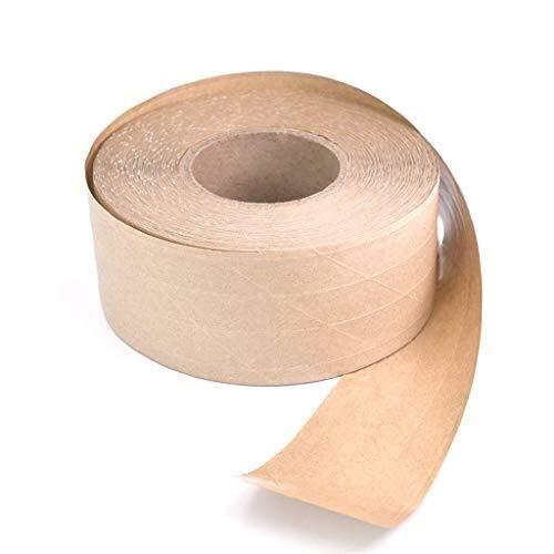 Papieren verpakkingstape - zelfklevende versterkte vezelkraftpapierafdichtingstape gemaakt van gerecycleerde materialen voor verpakkingspakketten en dozen 48mm x 50m