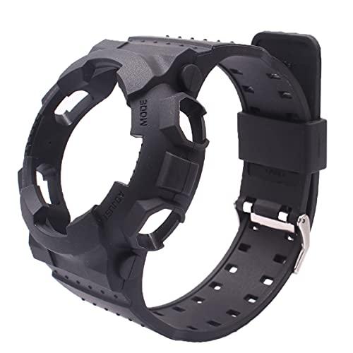 OliBoPo - Cinturino di ricambio per orologio Casio da uomo, G-Shock GD120/GA-100/GA-110/GA-100C Nero 2