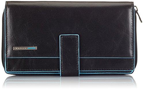 Piquadro PD1354B2 Portafoglio, Collezione Blu Square, Nero