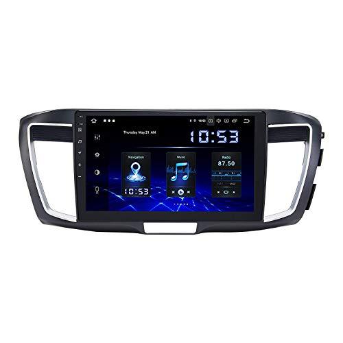 JIBO para Honda Acuerdo 2013-2017 Android 10.0 Auto Radio GPS Navegación Cabeza Unidad 7' Tocar Pantalla Nav Sat Teléfono Control WiFi RDS BT Estéreo Multimedia Jugador Video Receptor