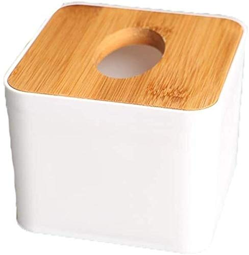 Tissue box Modern Square Paper Facial Tissue Box Cover Holder for Bathroom Vanity Countertops, Bedroom Dressers (Color : White) (Color : White)
