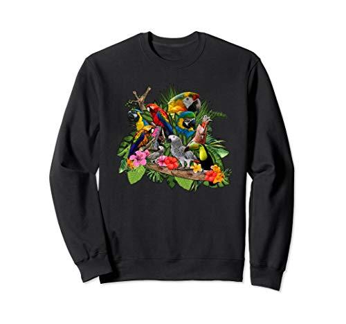 Kakadu Graupapagei Papagei Dschungel Vogel Sweatshirt